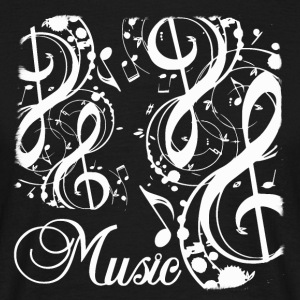 music notes edited - Men's T-Shirt