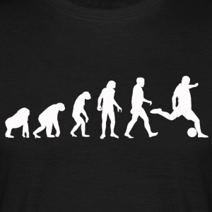 Football Evolution / Soccer evolution - Black Edit - Men's T-Shirt