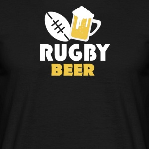 Rugby and beer - Männer T-Shirt
