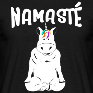 Unicorn Yoga Namaste - T-shirt herr