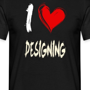 I love design - Men's T-Shirt