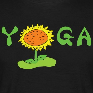 Yoga With Flower - Men's T-Shirt