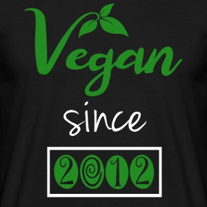 Vegan siden 2012 - T-skjorte for menn