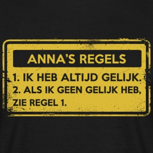 Anna regler. Original gave. - T-skjorte for menn