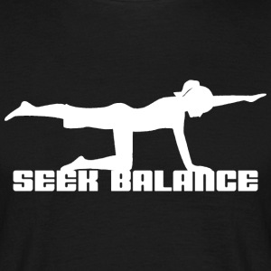 Yoga Seek Balance - Herre-T-shirt