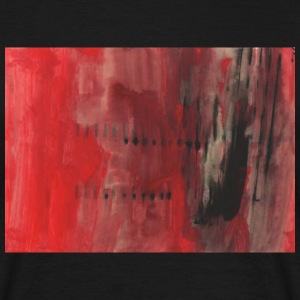 red and black abstract - Men's T-Shirt