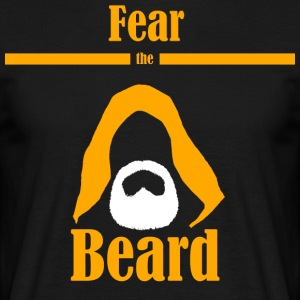 Fear the beard  jedi yedi beard hood - Men's T-Shirt
