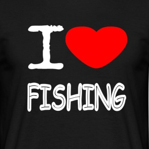 I LOVE FISHING - Männer T-Shirt
