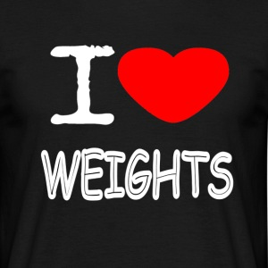 I LOVE WEIGHTS - Männer T-Shirt