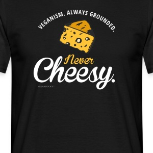 vs0137 veganism always grounded never cheesy - Men's T-Shirt
