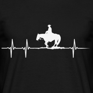 Heartbeat of a horse lover - Men's T-Shirt