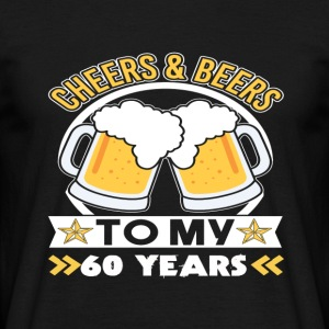 60th birthday beers - Men's T-Shirt