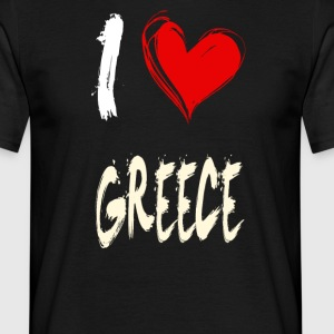 I love greece - Men's T-Shirt