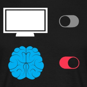 TV-out - BRAIN op - Mannen T-shirt