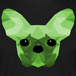 French Bulldog Low Poly Design green - Men's T-Shirt