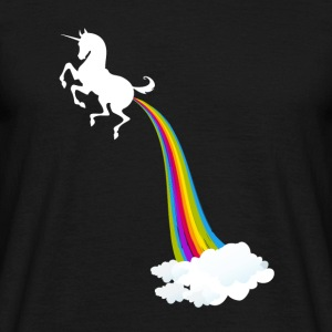 Unicorn Farting Rainbow - Men's T-Shirt