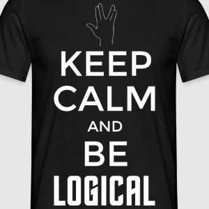 Keep Calm and be logical (hell) - Männer T-Shirt