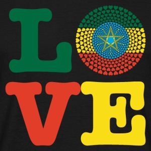 Ethiopia Ethiopia ኢትዮጵያ Love heart mandala - Men's T-Shirt