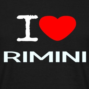 I LOVE RIMINI - T-skjorte for menn
