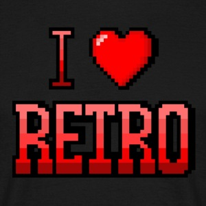 I love red RETRO - T-shirt Homme