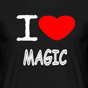 IK HOUD MAGIC - Mannen T-shirt