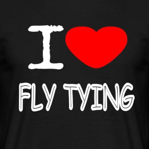 I LOVE FLY TYING - Männer T-Shirt