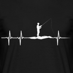 Heartbeat of Anglers - Men's T-Shirt