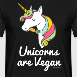 Unicorns Are Vegan - Mannen T-shirt