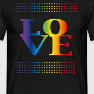 love love arc coloré gay pride valentins csd - T-shirt Homme