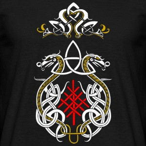 dragons triquetra viking - T-shirt Homme