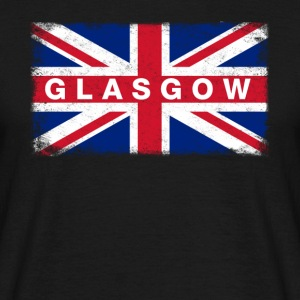 Glasgow Shirt Vintage United Kingdom Flag T-Shirt - Men's T-Shirt