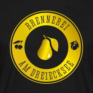 distillery on dreiecksee brand spirit liqueur uckermar - Men's T-Shirt