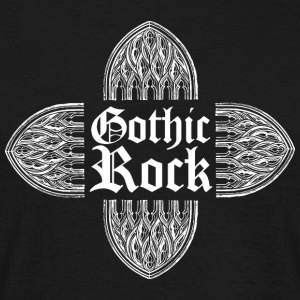Gothic rock MUSIC (vit) - T-shirt herr