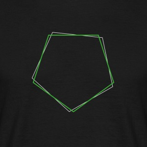 Shifted Polygons Green - Männer T-Shirt