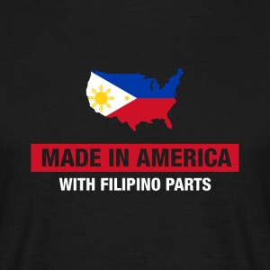 Made in America con filippino parti Filippine - Maglietta da uomo