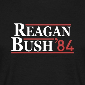 Vintage 80s Reagan Bush 84 Republican Political - Men's T-Shirt