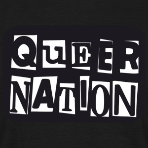 Queer Nation - T-skjorte for menn