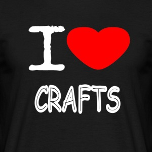 I LOVE CRAFTS - T-skjorte for menn