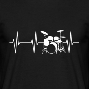 drum Heartbeat - Mannen T-shirt