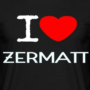 I LOVE ZERMATT - T-skjorte for menn