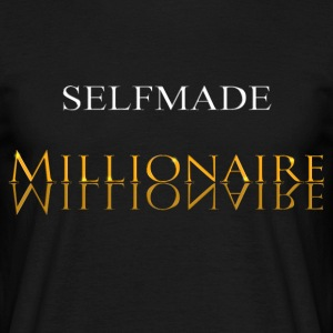 Self Made Millionaire Guld - Herre-T-shirt