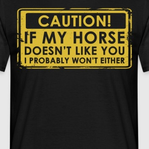 I love horses gift / design. Order here. - Men's T-Shirt