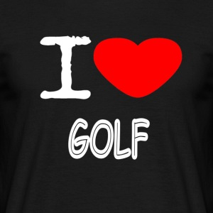 I LOVE GOLF - T-skjorte for menn