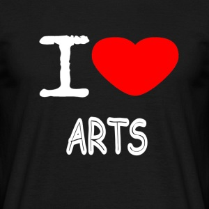 I LOVE ARTS - T-skjorte for menn