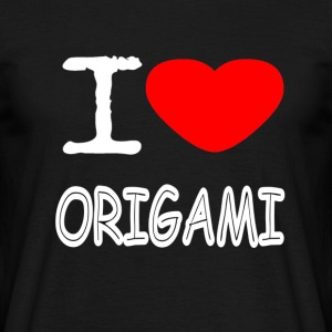 I LOVE ORIGAMI - T-skjorte for menn