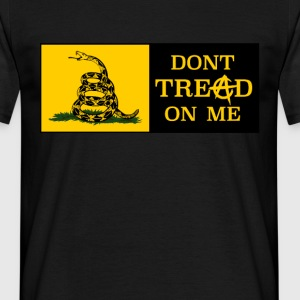 DONT TREAD ON ME ANARCHOCAPITALISM - Men's T-Shirt