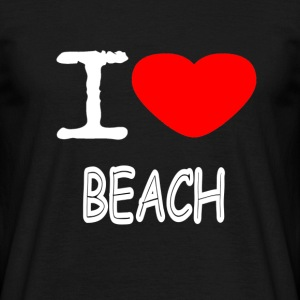 I LOVE BEACH - Mannen T-shirt