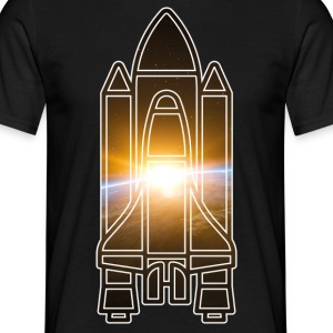 Space Shuttle - Earth - Space - Men's T-Shirt
