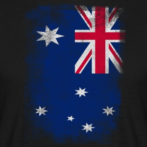 Australia Flag Proud Australian Vintage Distressed - Men's T-Shirt