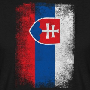 Slovakia Flag Proud Slovakian Vintage Distressed - Men's T-Shirt